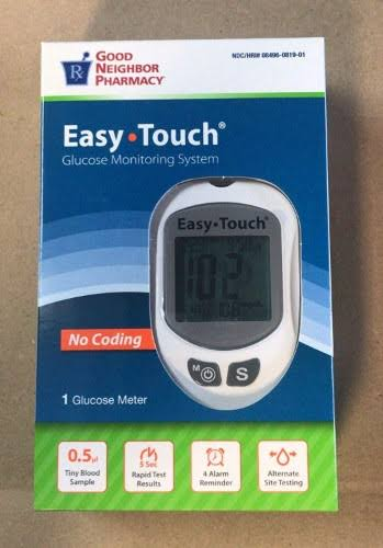 Good Neighbor Pharmacy Easy Touch Glucose Monitoring System