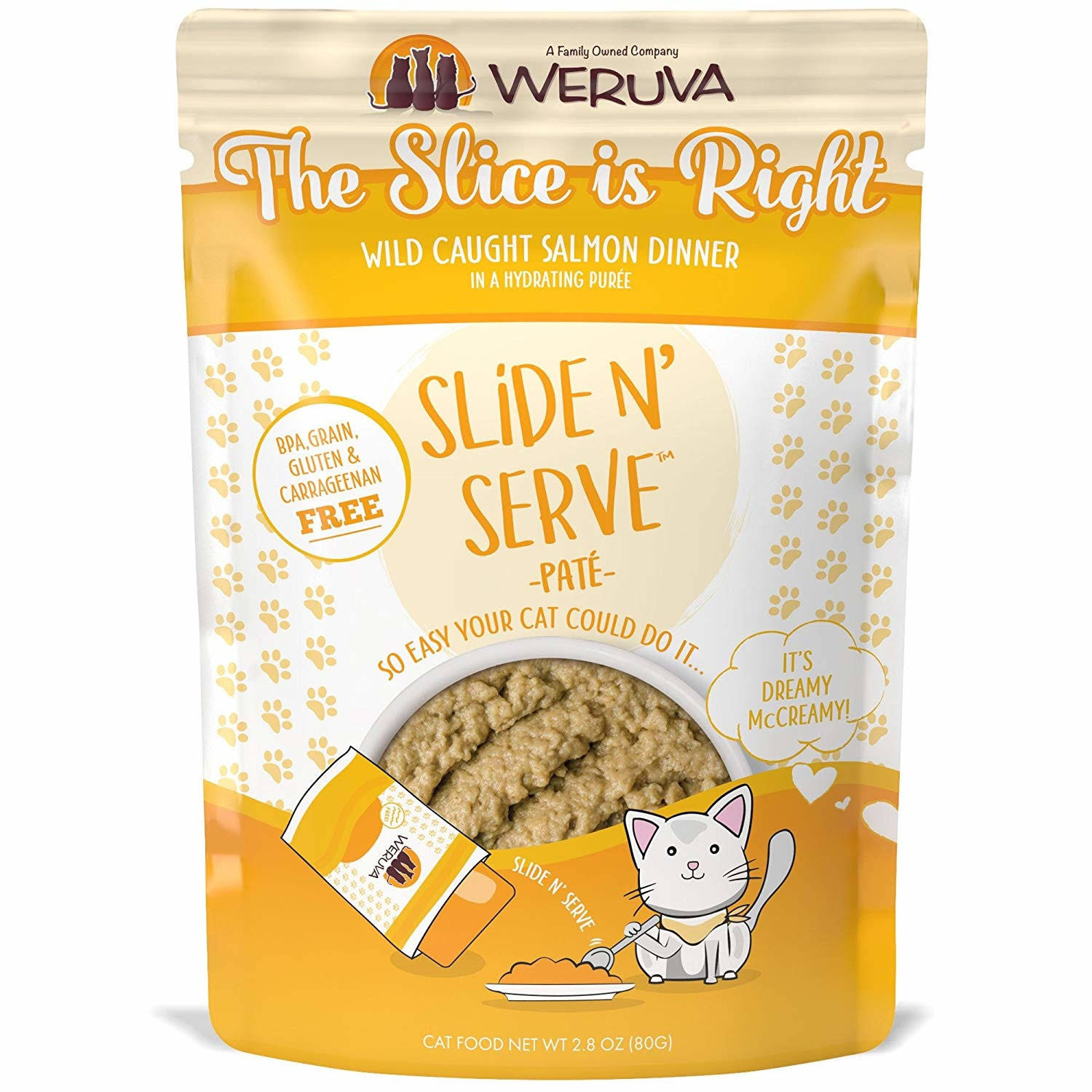 Weruva 813778018937 2.8 oz Cat Slide & Serve The Slice Is Right Food