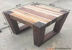how to build a small table out of scrap wood scrap wood end table