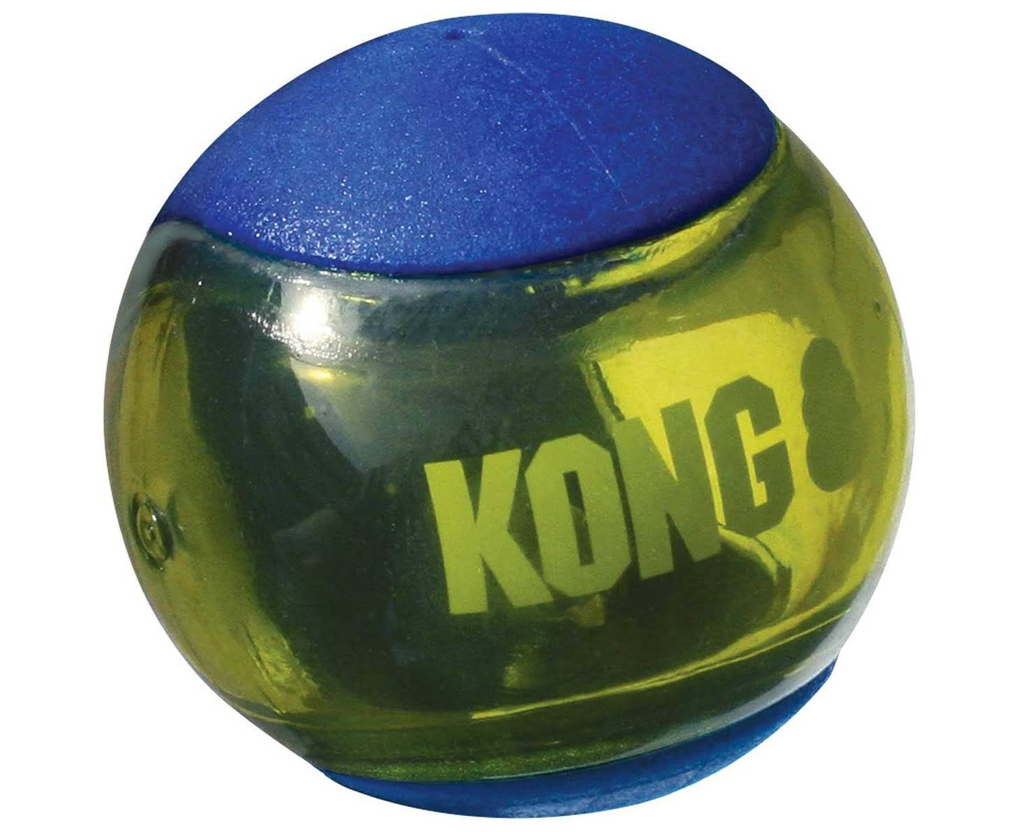 Kong - Squeezz Action Ball - Blue - Large