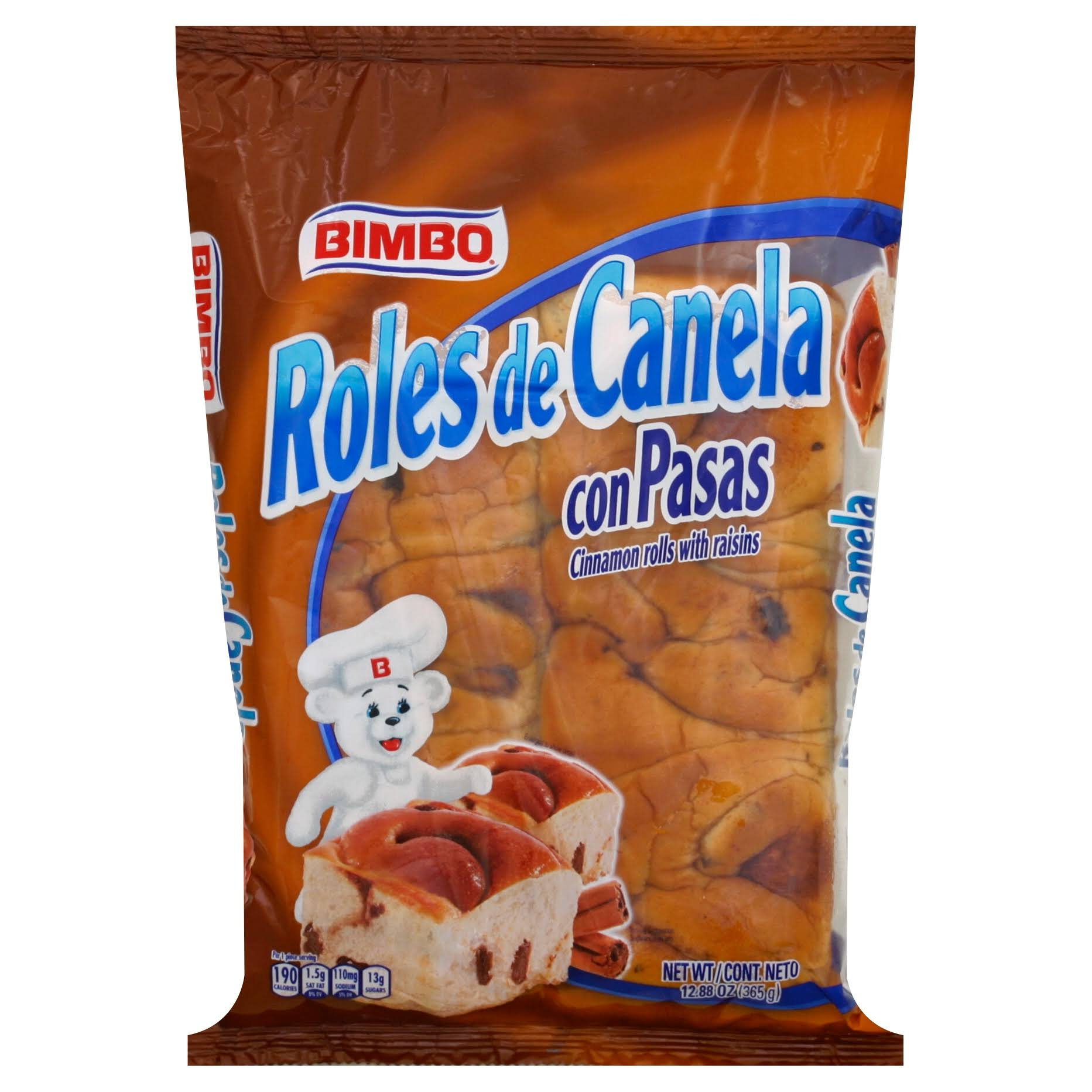 Bimbo Cinnamon Rolls, with Raisins - 12.88 oz