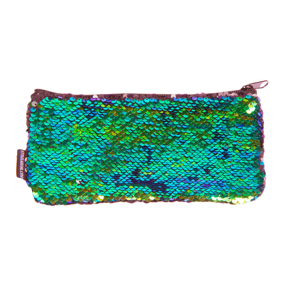 Style Labs Magic Mini Sequin Pouch Mermaid Iridescent Black 76585