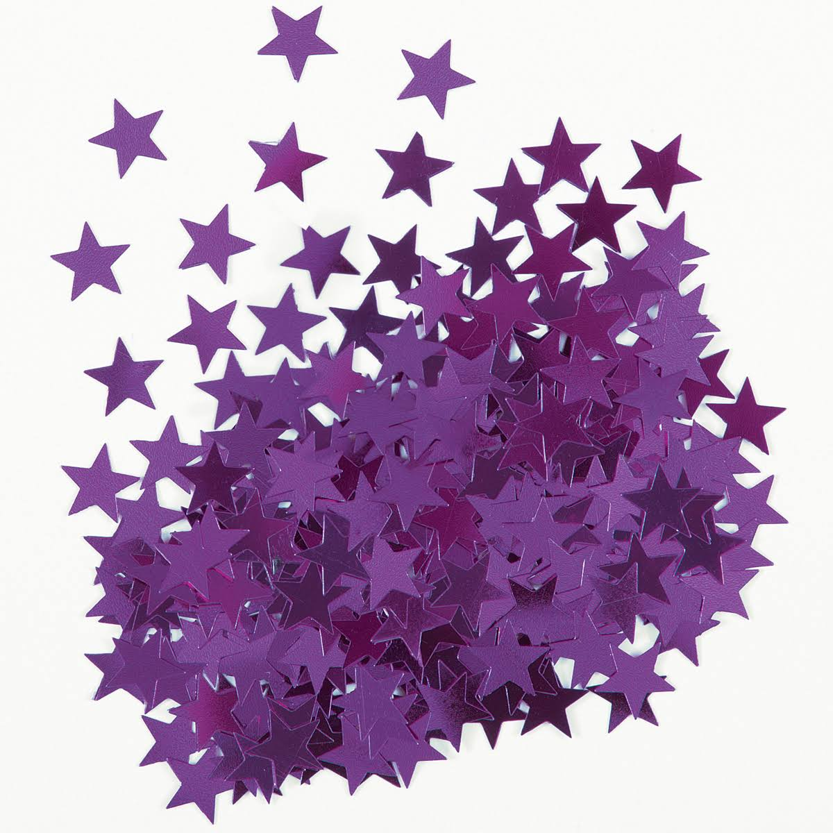 Unique Metallic Star Confetti - Purple
