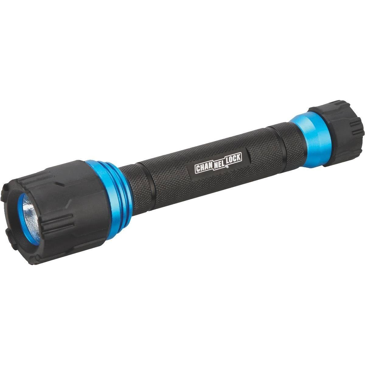 Channellock Products 801890 Aluminum Flashlight - Black, 90Lumens, Uses 2 AA Batteries