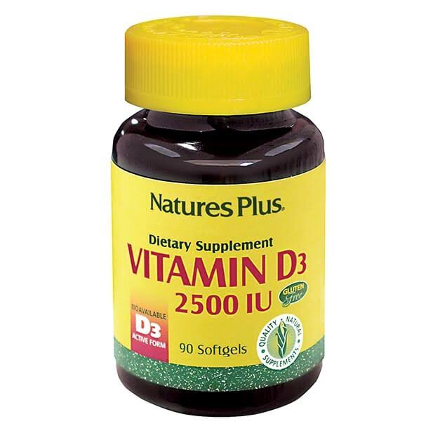 Nature's Plus Vitamin D3 - 2500 IU - 90 Softgels