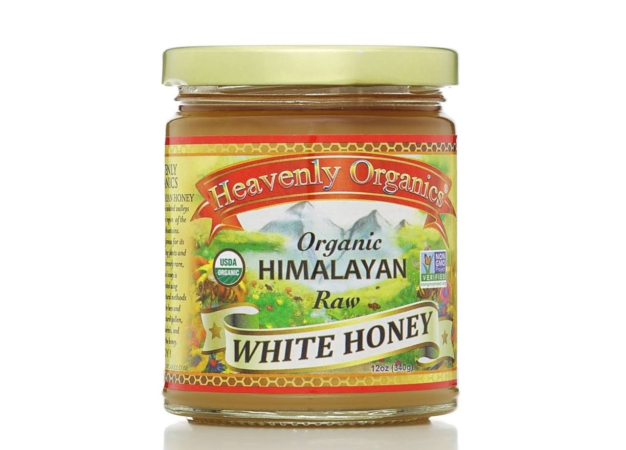 Heavenly Organics 100% Organic Raw White Honey - 12 oz