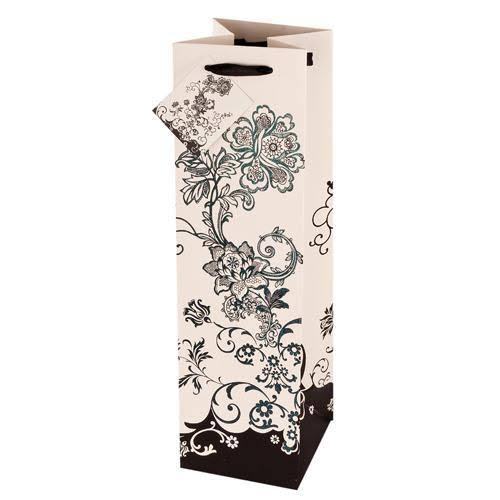 True Fabrications 2412 Floral Chic Wine Bag