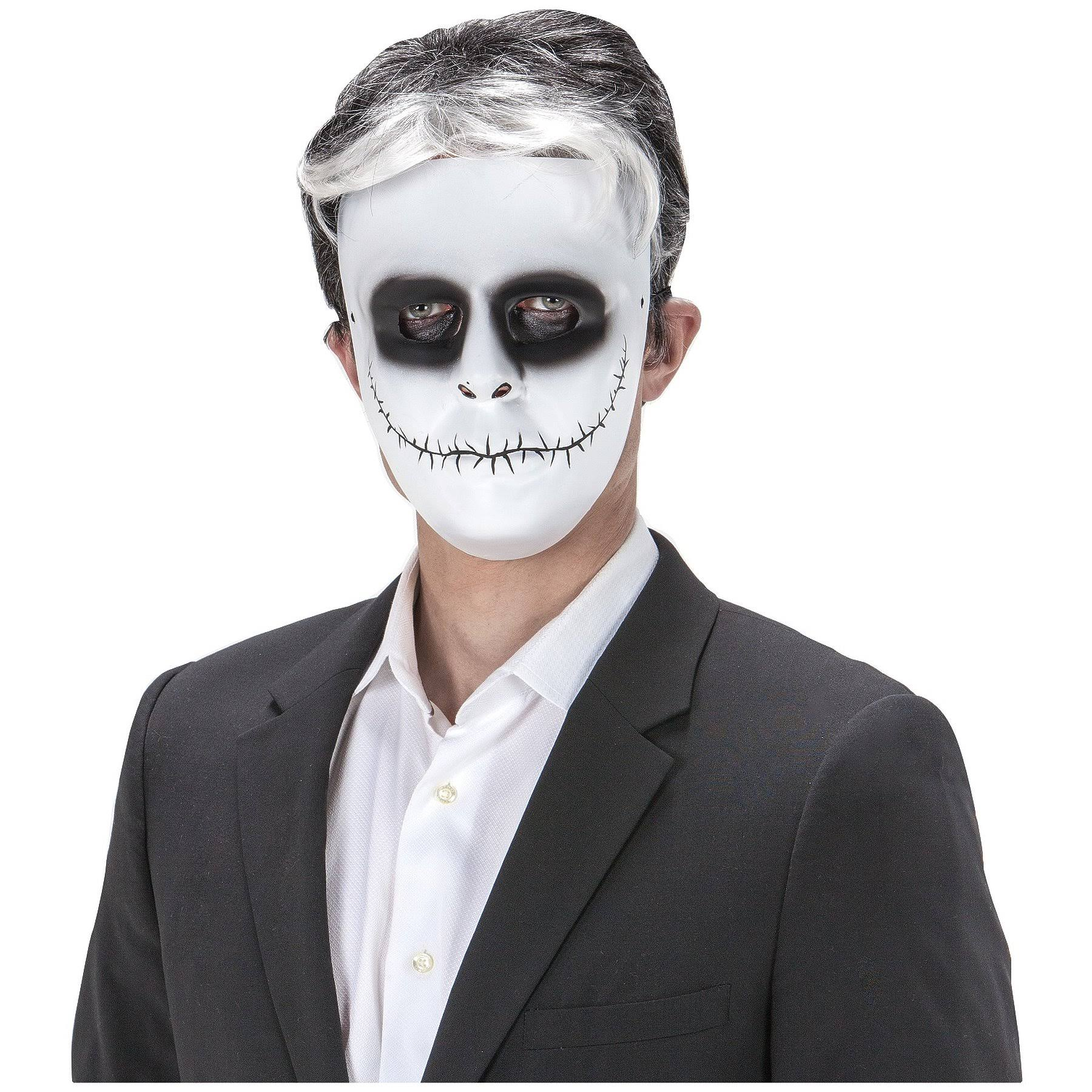 Sunstar Industries Day of The Dead Comic Face Skeleton Skellington Face Mask Halloween Costume