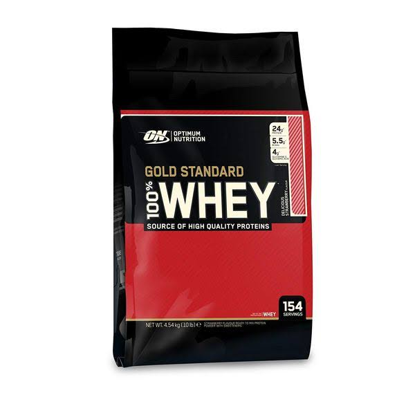 Optimum Nutrition 100% Whey Gold Protein Isolates - Strawberry