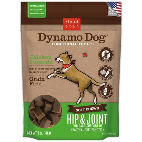 Cloud Star Dynamo Dog Functional Treats - Hip and Joint, 5oz