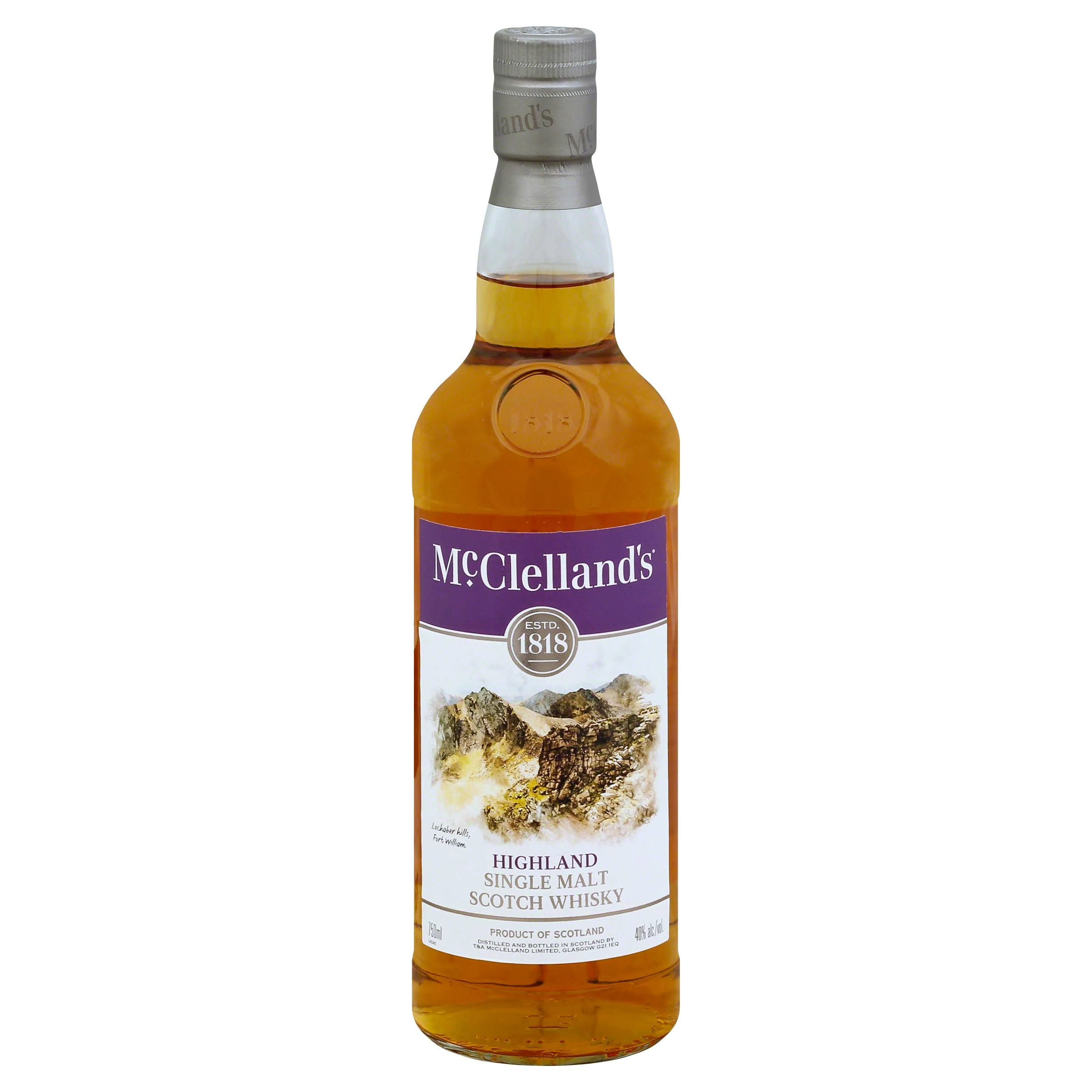 Mc Clellands Highland Single Malt Scotch Whisky - 750ml