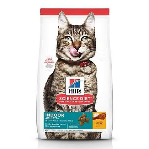 Hill's Science Diet Indoor Premium Natural Cat Food - Chicken Recipe, Adult 7 Plus, 7lbs