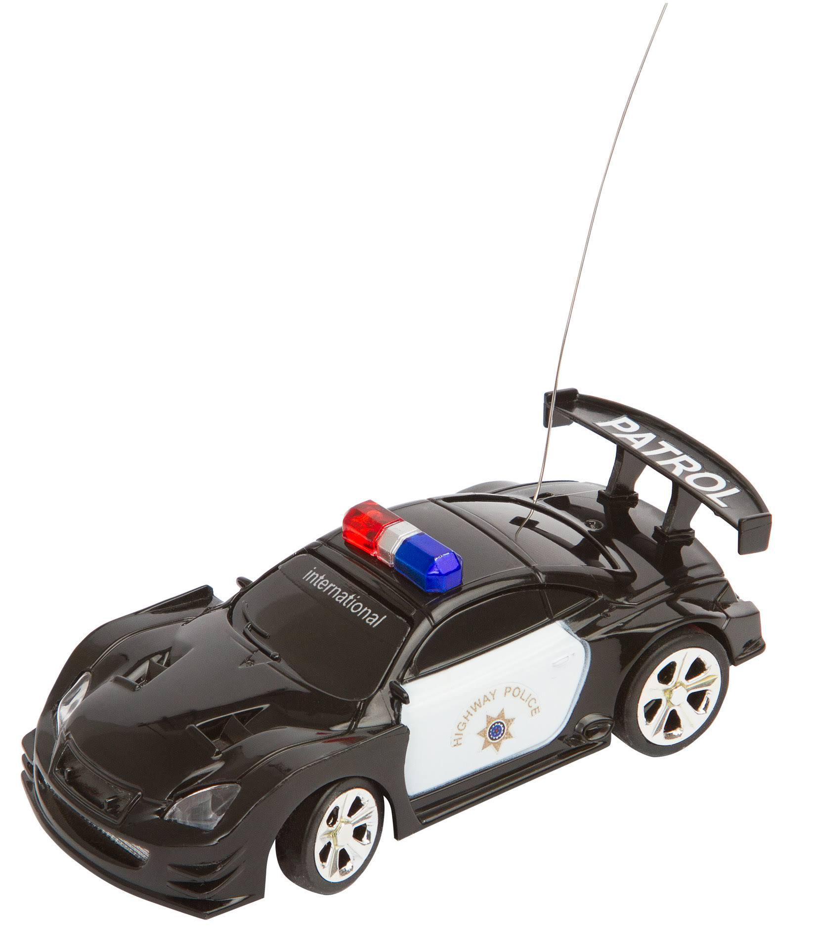 HQ Kites RC Police Mini Racer Vehicle Car - Black and White