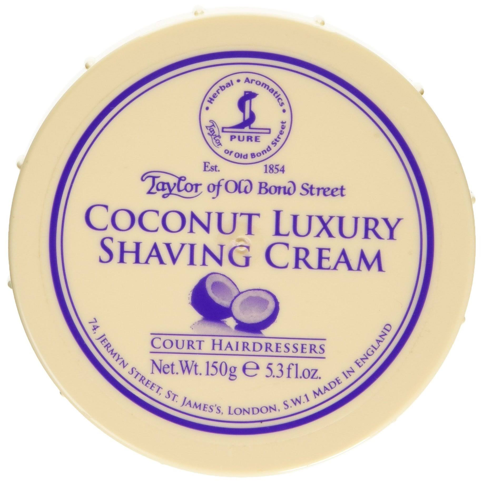 Taylor of Old Bond Street Coconut Shaving Cream Bowl - 5.3oz