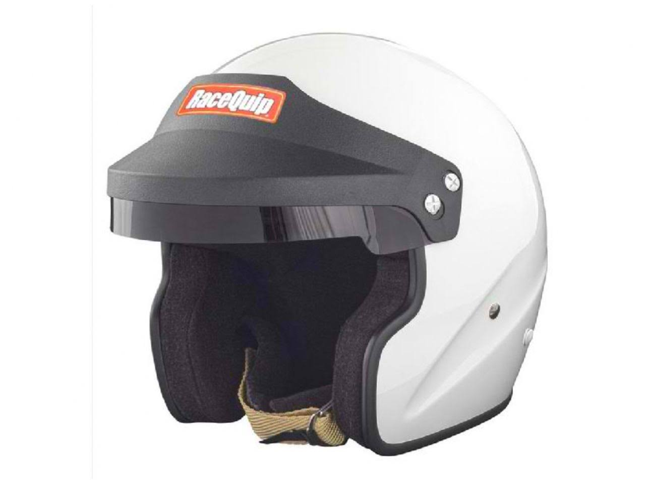 Racequip OF15 Open Face Helmet (White, Large)