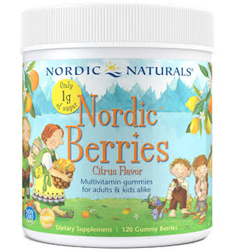 Nordic Naturals Nordic Berries, Citrus Flavor, Gummy - 120 gummies