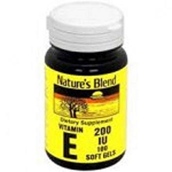 Nature's Blend Vitamin E 200iu Softgels 100 ct