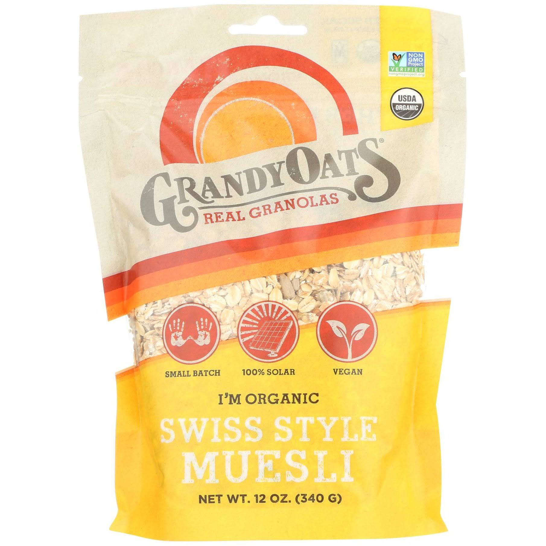 Grandy Oats Granola - Swiss Style - Case of 6 - 12 oz.
