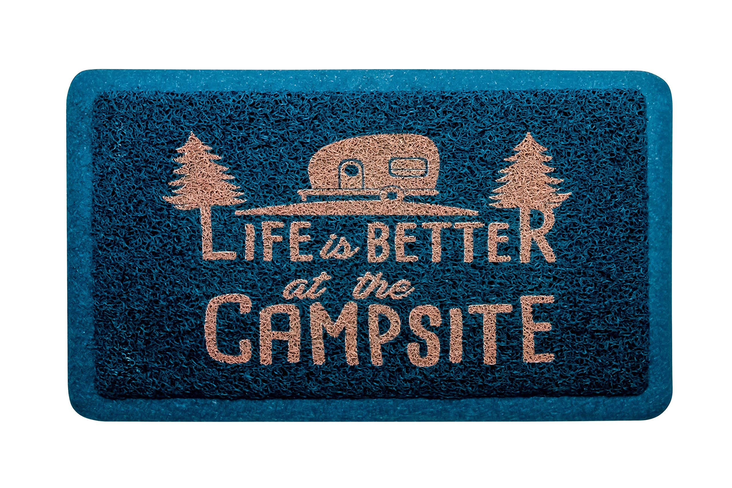 Camco Life Is Better at The Campsite Outdoor & Indoor Welcome Mat