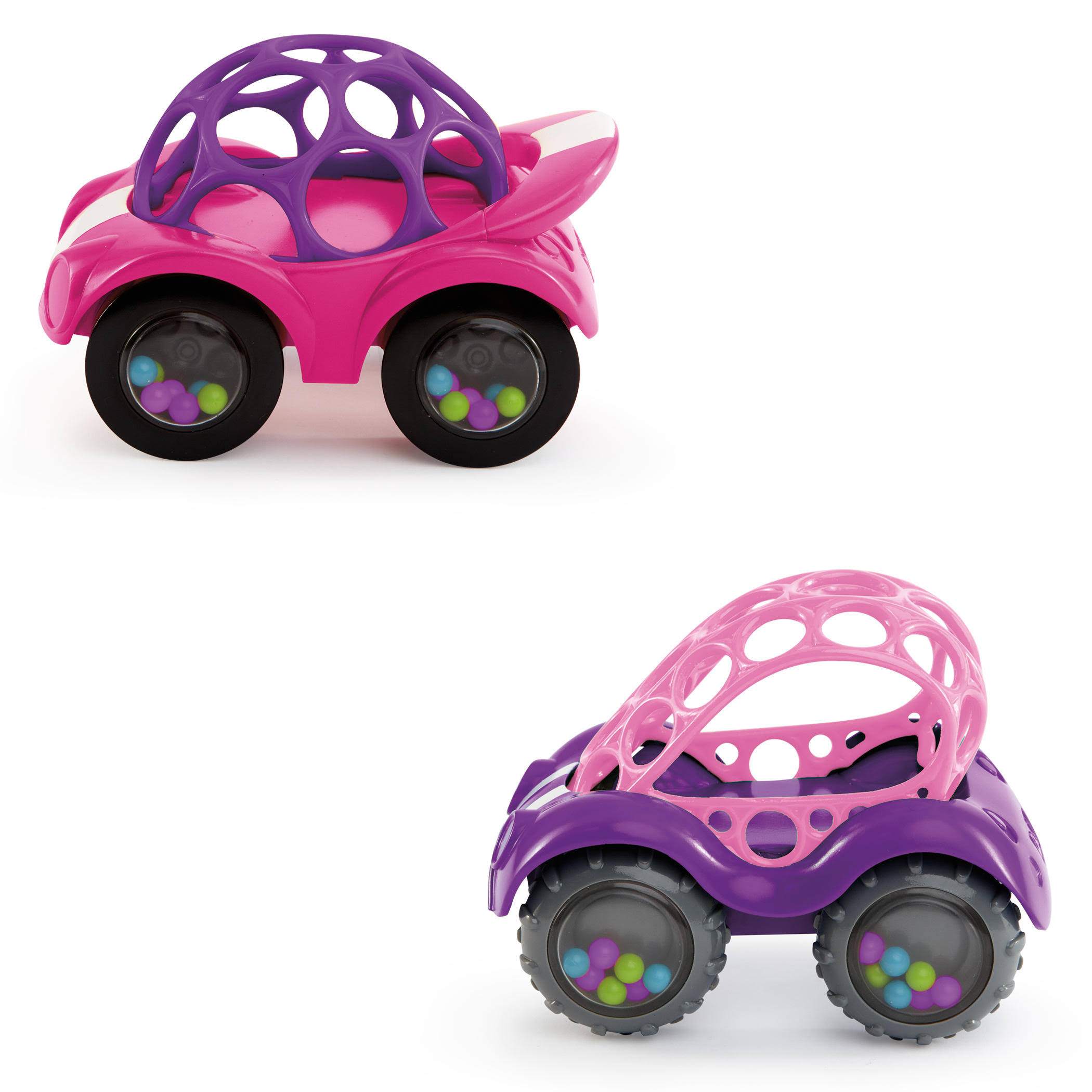 Oball Rattle and Roll Car Fun Baby Toy - Pink