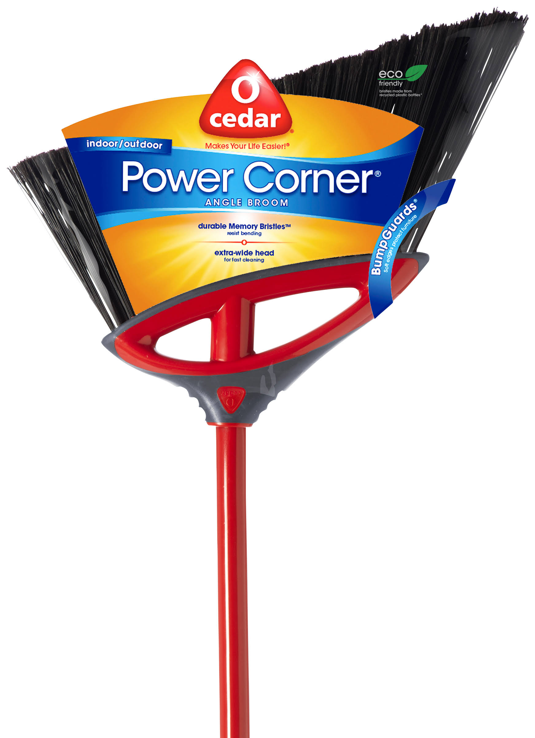 O-Cedar Power Corner Angle Broom - Large