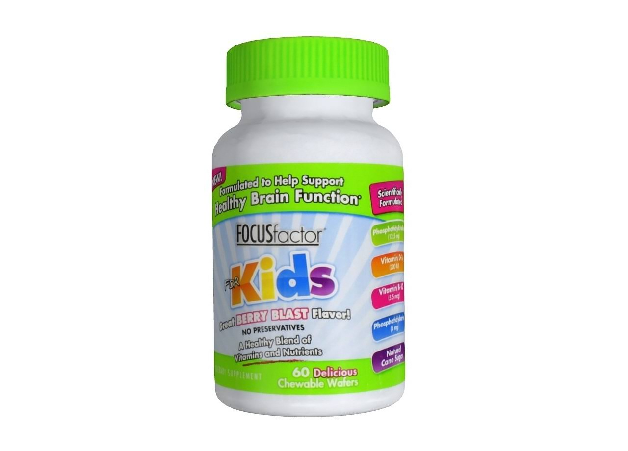 Factor Nutrition Labs Focus Factor for Kids - Berry Blast, 60 Chewable Wafers