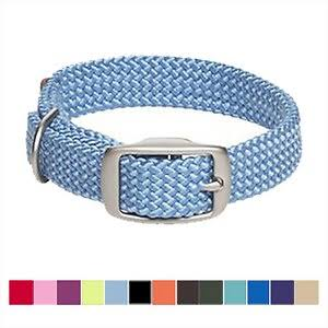 Mendota Products Double Braid Dog Collar, Sky Blue, 18-in