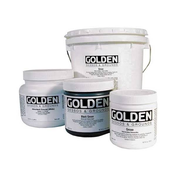 Golden Traditional Gesso Jar - White, 946ml