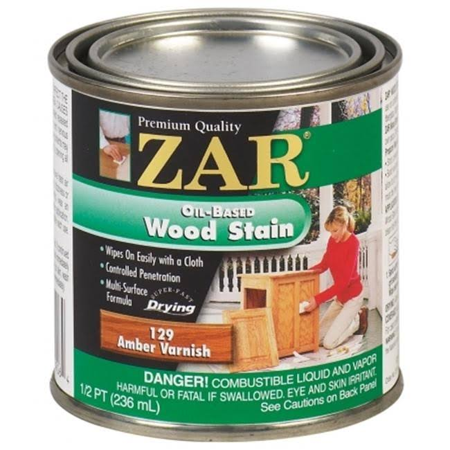 United Gilsonite Zar Oil Based Wood Stain - 129 Amber Finish
