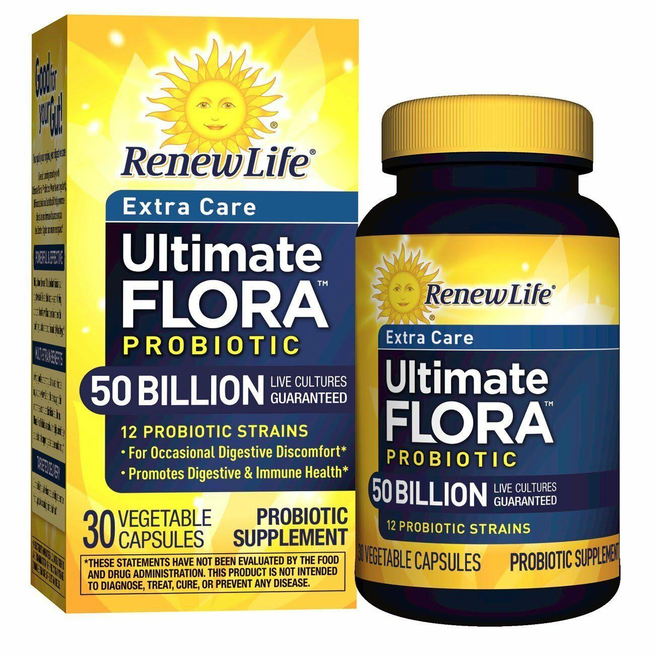 Renew Life Ultimate Flora Probiotic - 50 billion, 30 caps