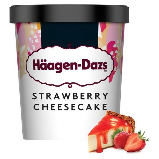 Haagen Dazs Ice Cream - Strawberry Cheesecake, 460ml