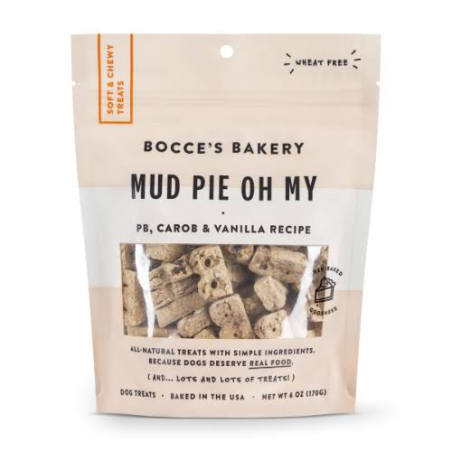 Bocce's Bakery Mud Pie Oh My Soft & Chewy Dog Treats, 6-oz Bag
