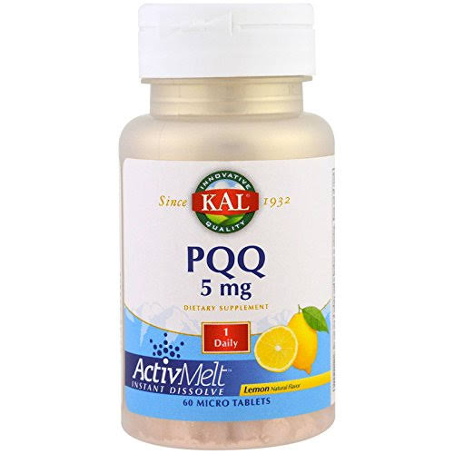 KAL PQQ Dietary Supplement - Lemon, 5mg , 60ct