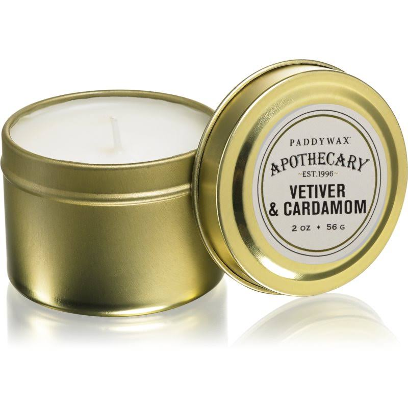 Paddywax Candles Apothecary Collection Candle Tin - 2oz, Vetiver and Cardamom