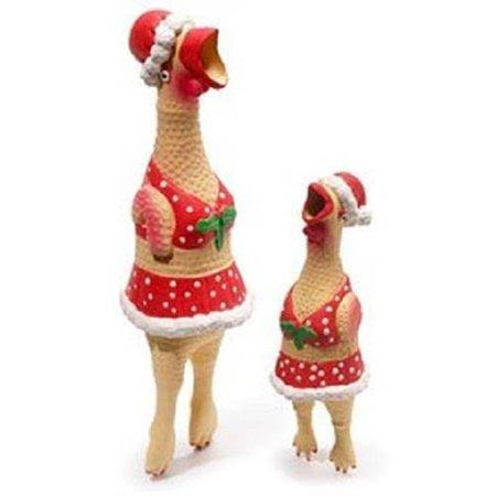 Charming Christmas Henrietta Chicken Dog Toy