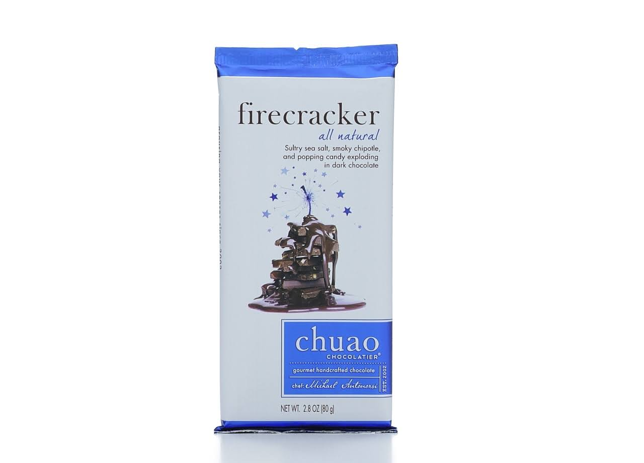 Chuao Chocolatier Gourmet Dark Chocolate, Firecracker - 2.8 oz bar