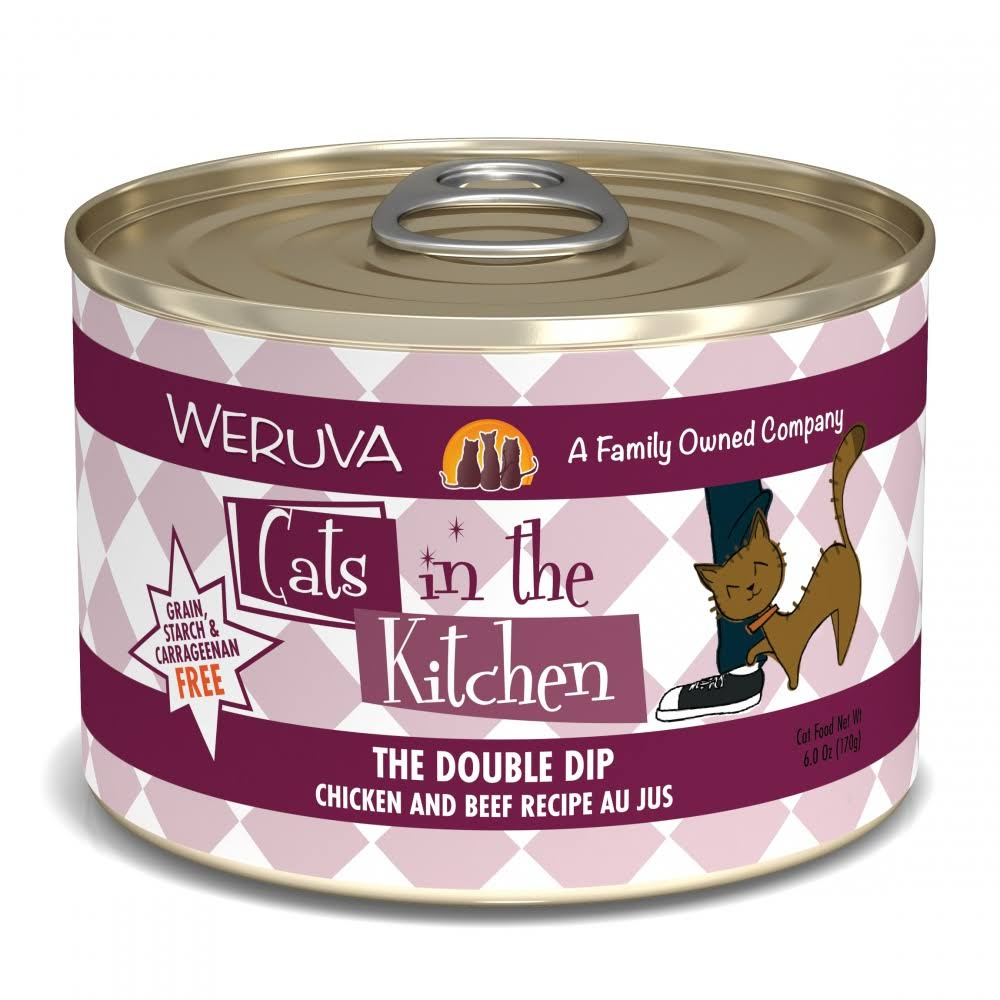 Weruva Cats in the Kitchen Cat Food - The Double Dip Chicken and Beef Recipe Au Jus, 3.2oz