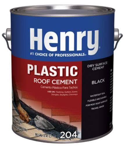Henry 204 Plastic Roof Cement - Black, 1gal