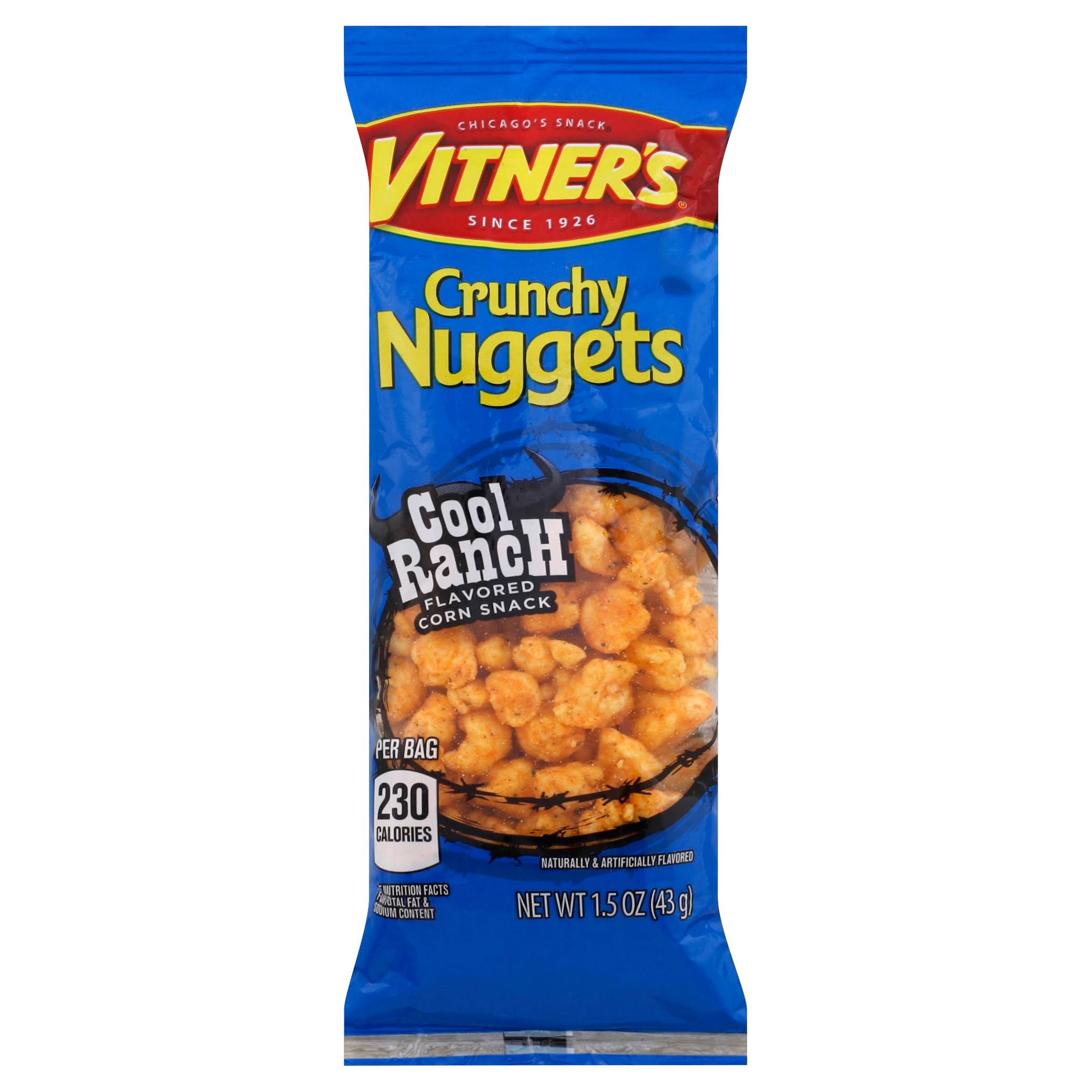 Vitners Corn Snack, Cool Ranch Flavored, Crunchy Nuggets - 1.5 oz