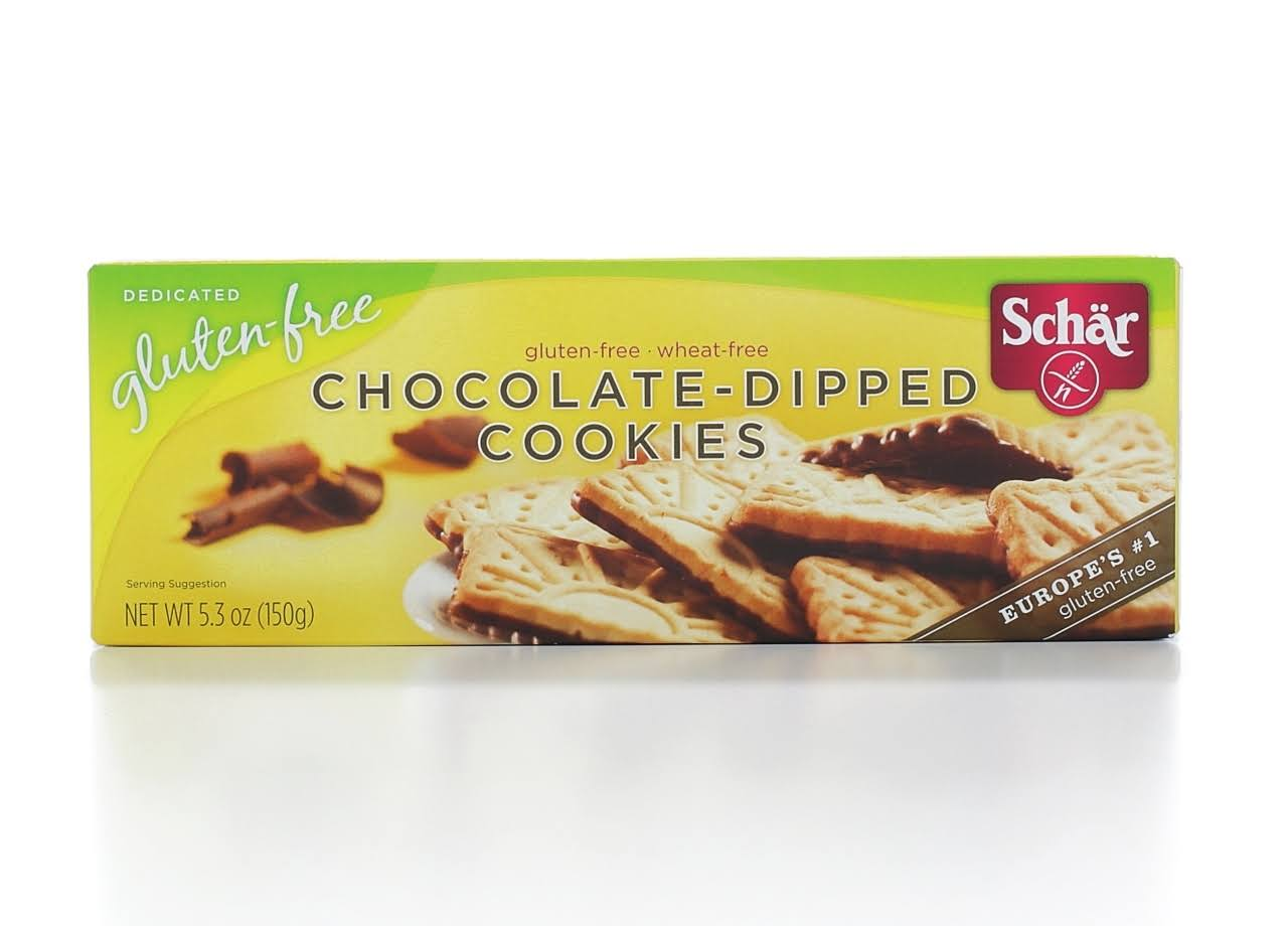 Schar Chocolate Dipped Cookies - 5.3oz