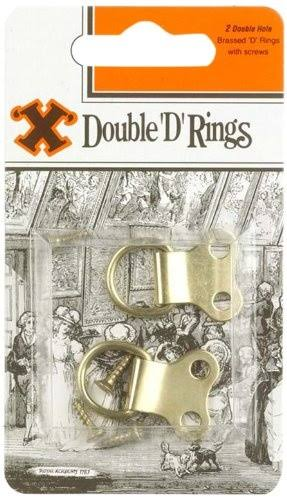 X Brand Double D Brass Rings - 4 Pack