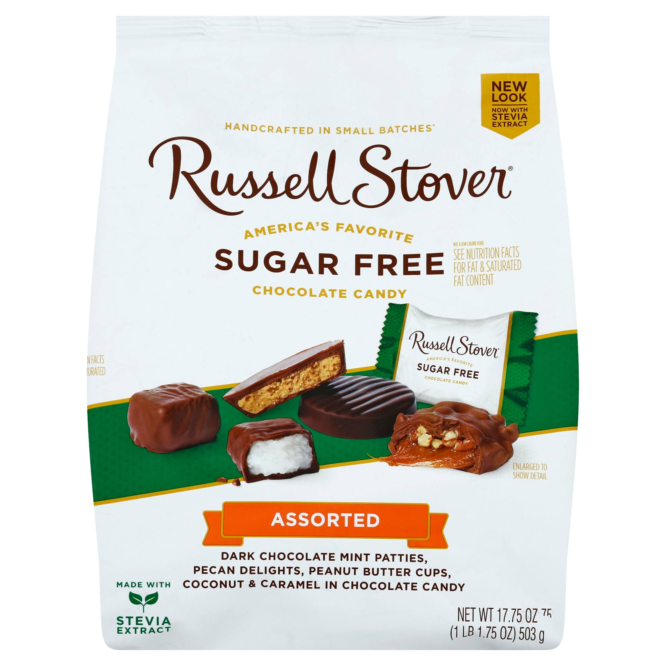 Russell Stover Sugar Free Assorted Chocolates Gusset Bag - 17.85oz