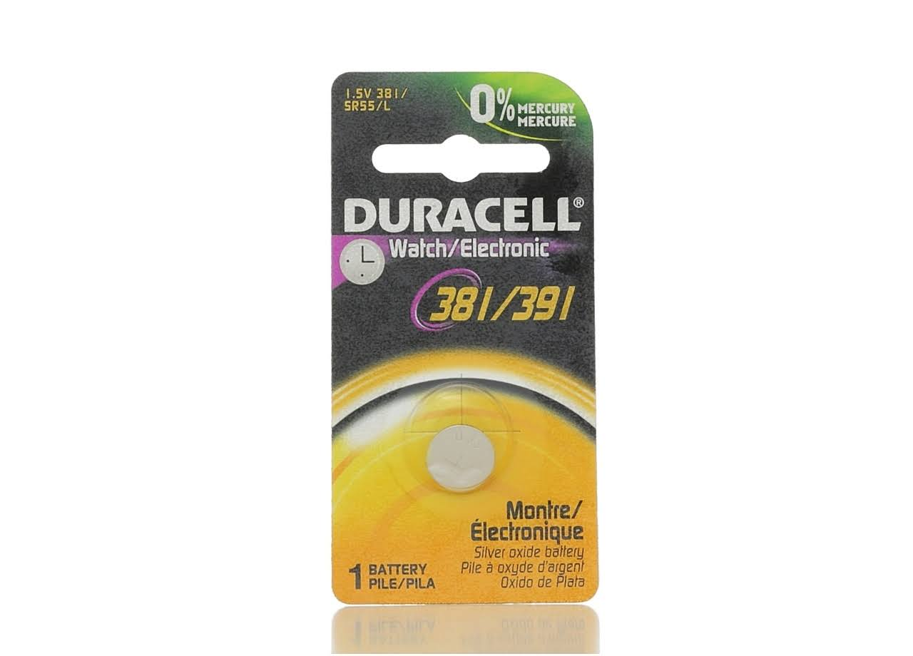 Duracell 381/391 Watch and Electronic Battery - 1.5V