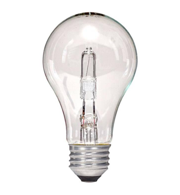 Satco S2403 A19 Halogen Clear Light Bulb - 53w