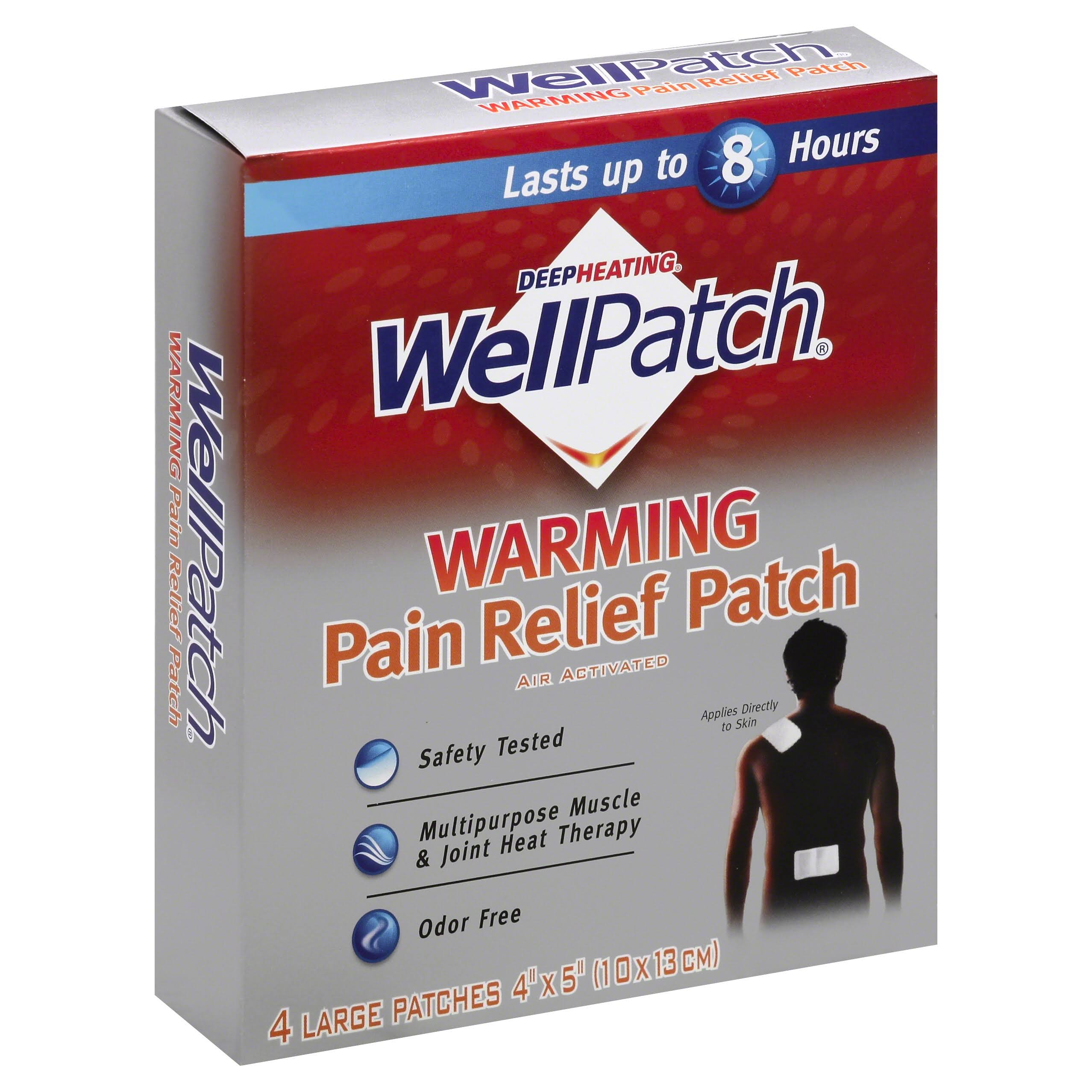 Wellpatch Warming Pain Relief Patch - 4 Large Patches