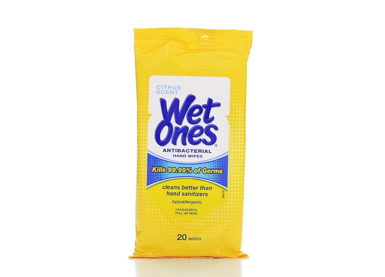Wet Ones Antibacterial Hand Wipes - Citrus, 20 Pack