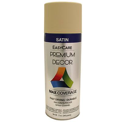 True Value Enamel Spray Paint - Almond Satin, 12oz