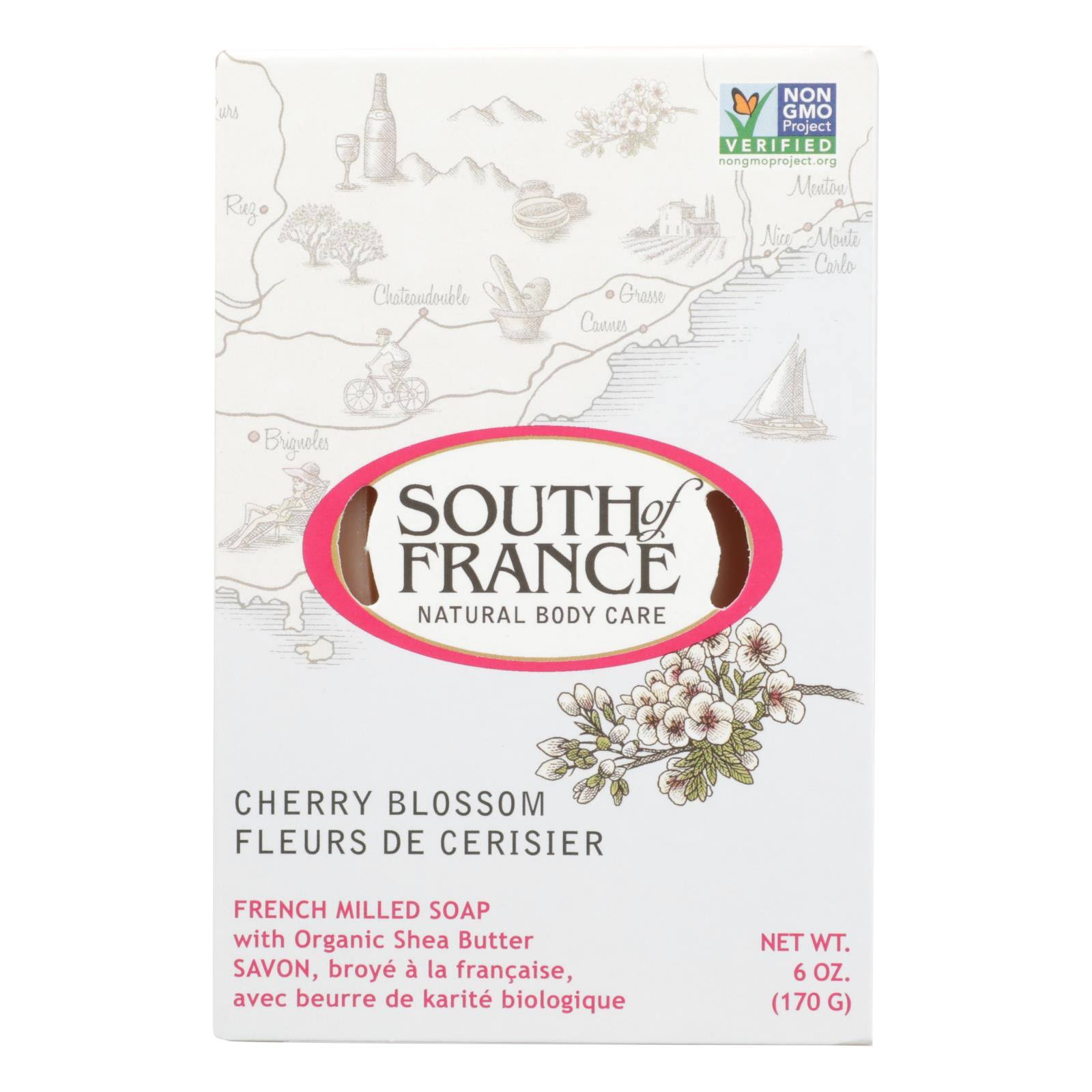 South of France Cherry Blossom Bar Soap 6 oz