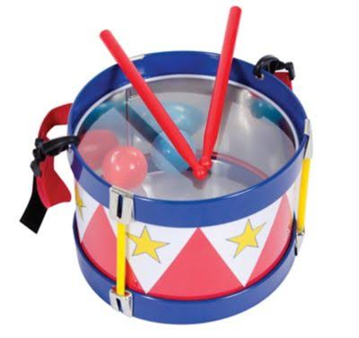 Schylling Classic Traditional Tin Drum Toy