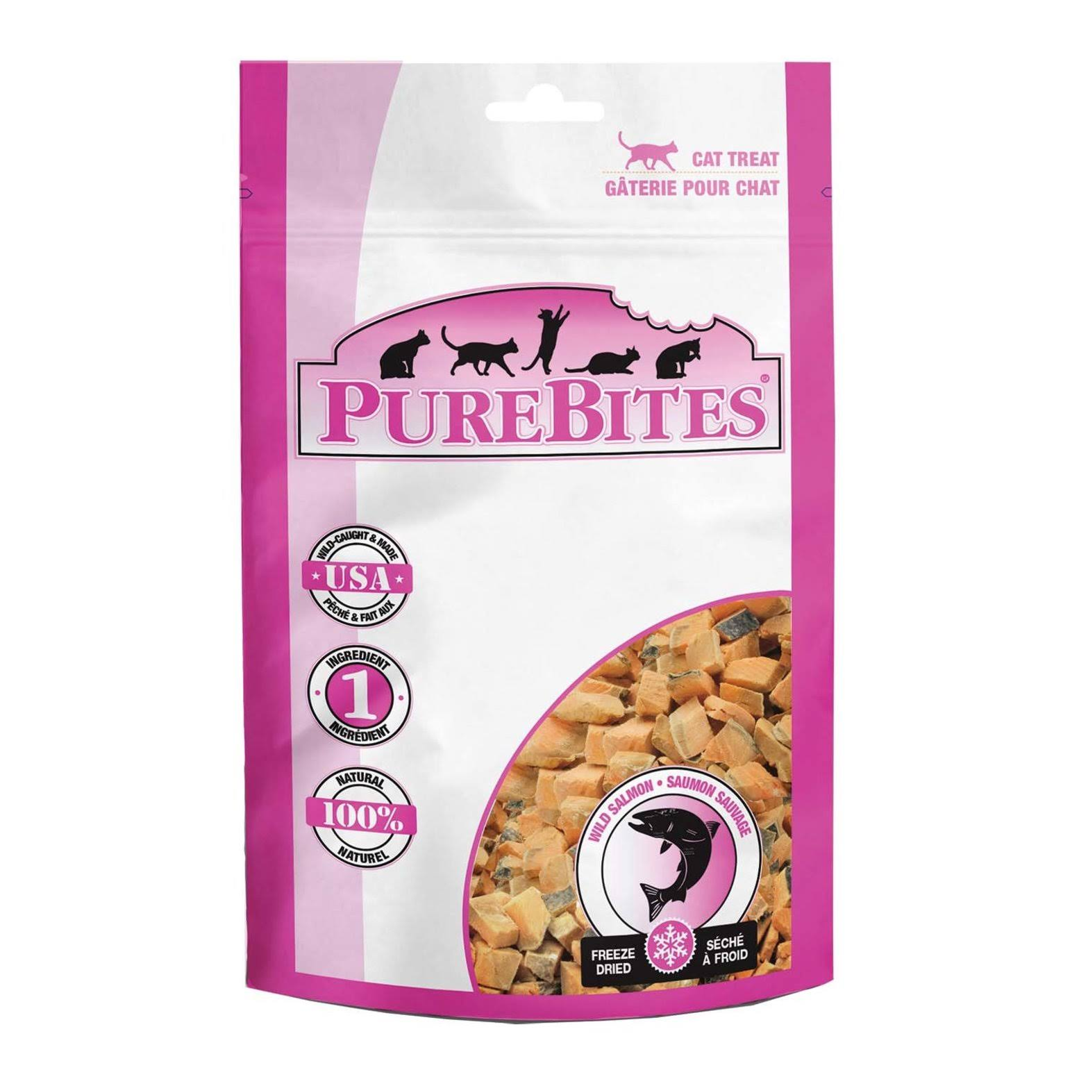 PureBites Salmon Flavored Cat Treats, 2-oz Bag